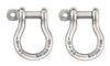 2 manilles de connection sellette, PETZL