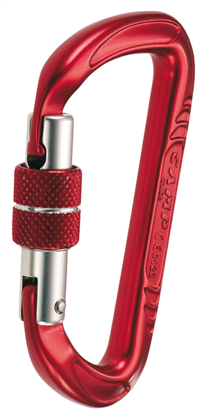 Mousqueton à vis keylock, rouge 32 kN, GUIDE VIS, CAMP