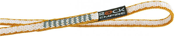 Anneau de sangle dyneema cousue 10mm x 120 cm, EN 566, 22 kn, ROCK EMPIRE